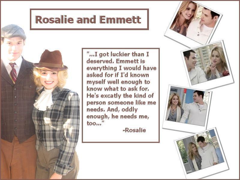 Emmett Rosalie Fanpop Rosalie Emmett/rosalie