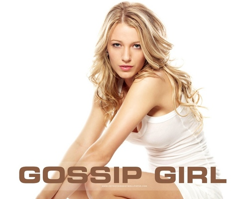 Gossip Girl Hintergrund with a portrait titled Gossip Girl