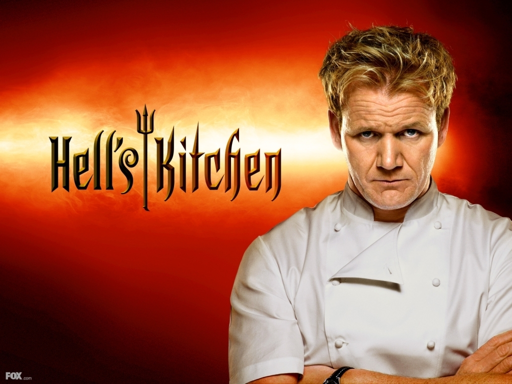 Hell's keuken-, keuken achtergrond