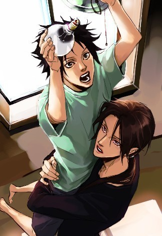 Itachi and Sasuke change a lightbulb