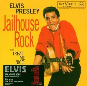 Elvis Presley kertas dinding titled Jail house rock record cover