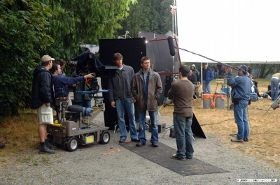 Jared on Set SPN S1