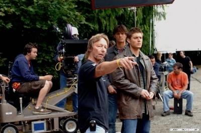 Jensen On Set Season 1 SPN