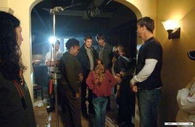 Jensen on Set Season 1SPN