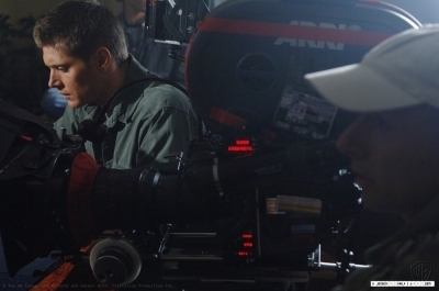 Jensen on Set Season 1SPN