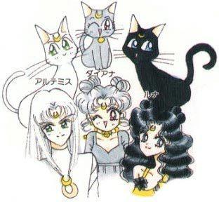 sailor moon artemis human  Luna, Artemis, & Dianah -