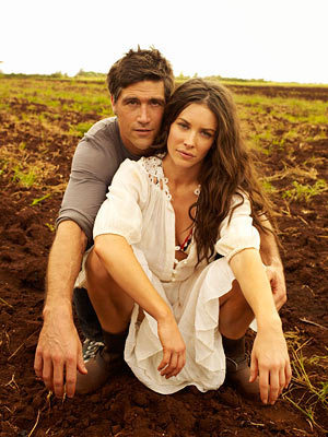 Matthew raposa and Evangeline Lilly