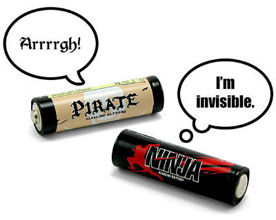 Ninja Pirate Batteries