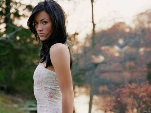 Olivia Wilde Hintergrund possibly with a cocktail dress, a strapless, and a abendessen dress titled Olivia