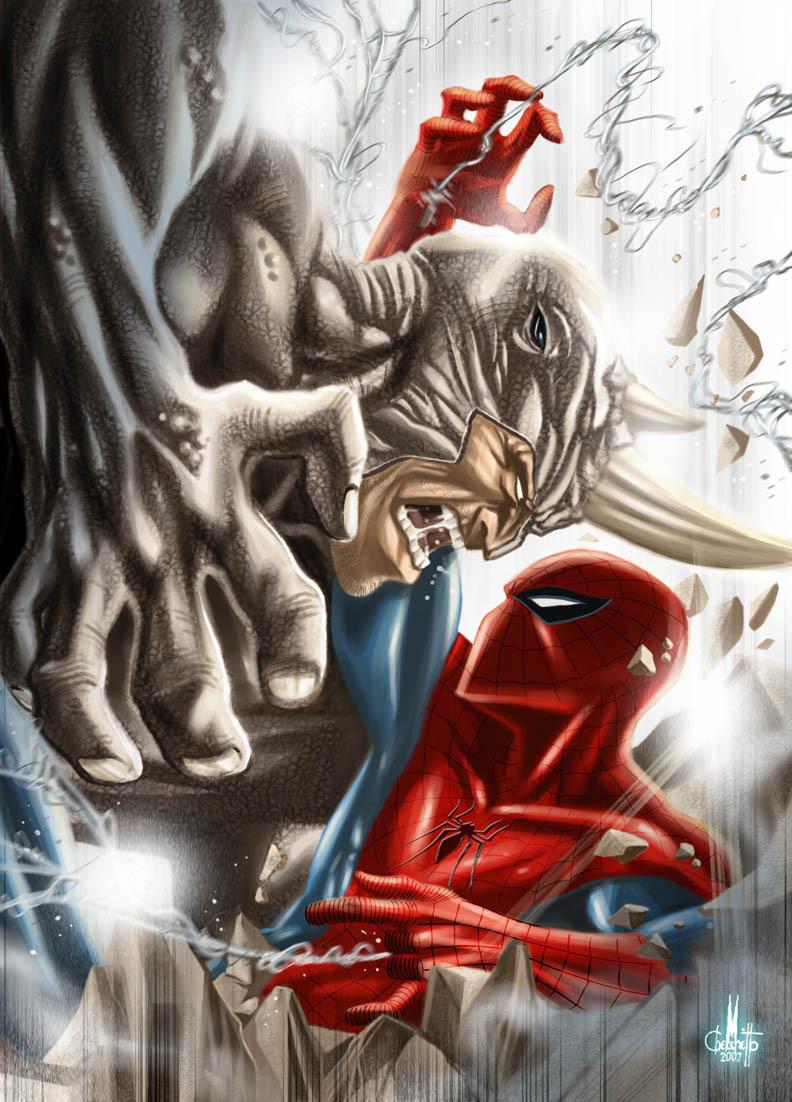 black spiderman vs rhino - photo #13