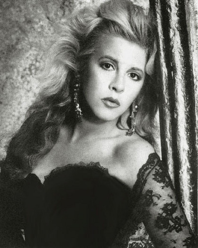 Stevie Nicks wallpaper possibly containing attractiveness and a portrait titled Stevie~Beautiful in B&W