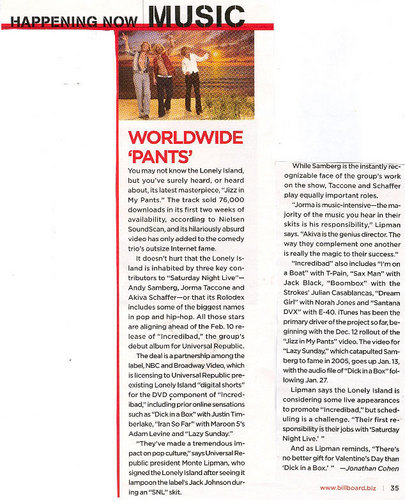 TLI in Billboard - January 2009