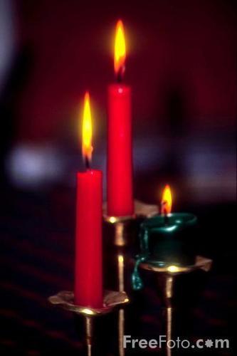 Three candle display