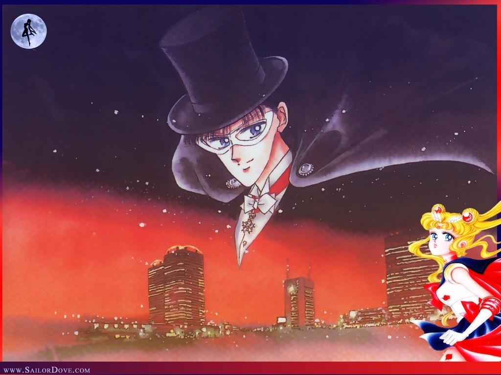 Tuxedo Mask & Sailor Moon Sailor Senshi Wallpaper