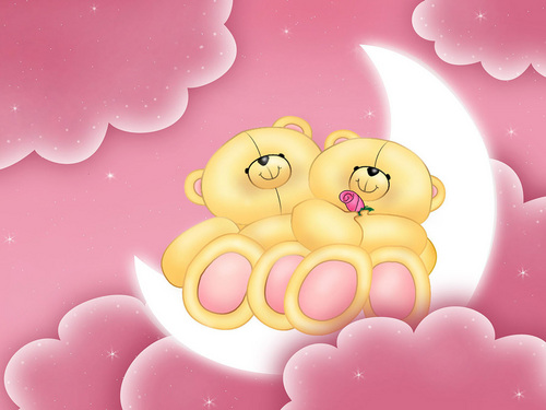 Valentine Bears - valentines-day Wallpaper