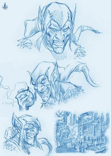 Villain sketches - Green Goblin