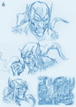 Villain sketches - Green Goblin - spider-man-villains fan art