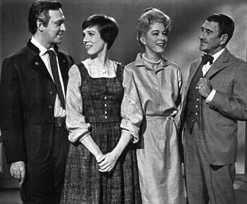 captain Von Trapp,Maria,The Baroness and uncle Max