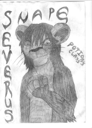 he is a lion ,i think its cute, note I DREW THIS!!!