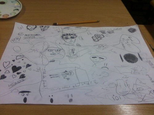 i was bored... (and my bf too) at school