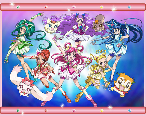 pretty cure 바탕화면 containing 아니메 titled pretty cure team