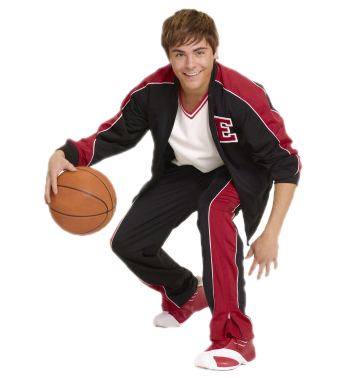 High School Musical fond d'écran with a basketball, basket-ball and a dribbleur, dribbler. entitled zac efron