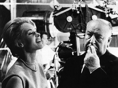 Alfred Hitchcock  and  Tippi Hedren - classic-movies Photo
