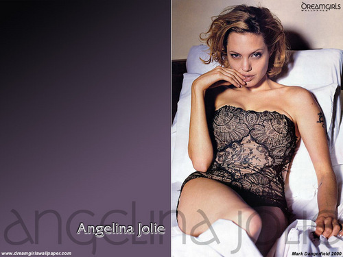 Angelina Jolie wallpaper possibly with a leotard, a bustier, and tights called Angelina Jolie