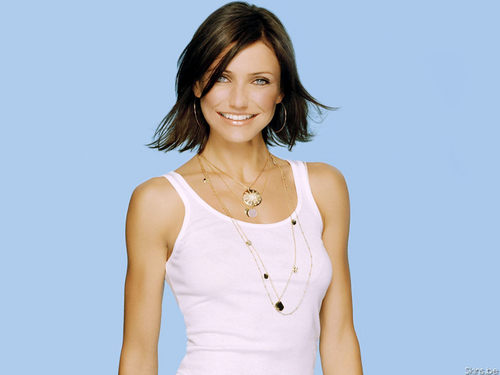 cameron diaz wallpaper probably containing a koktil, koktail dress and a chemise called Cameron Diaz