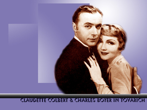 Claudette Colbert and Charles Boyer in Tovarich