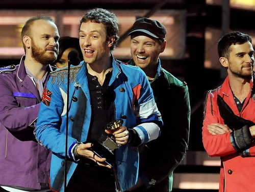 Coldplay at Thr Grammys 2009