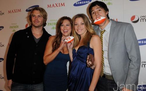 Danneel at the Maxim Magazine Super Bowl XLIII party