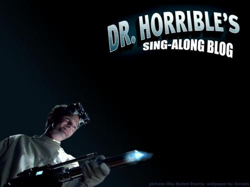 Dr. Horrible's Sing-A-Long Blog wallpaper possibly with a concert entitled Dr. Horrible's Sing-a-long Blog