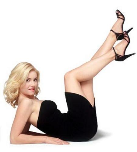 Elisha Cuthbert wallpaper containing attractiveness, tights, and a leotard called Elisha Cuthbert
