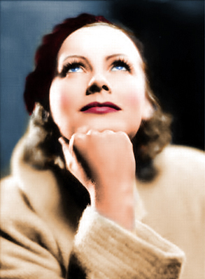 Greta Garbo--Colorized