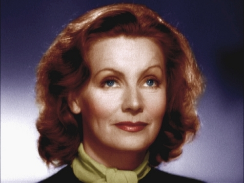 Greta Garbo--Colorized