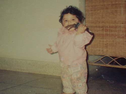 Lets have gun for dinner >:3 (Me when I was a Baby X3)
