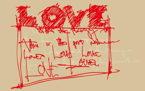 l'amour fond d'écran