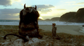 Max and a Wild Thing in  'Where The Wild Things Are' (FILM) - where-the-wild-things-are photo