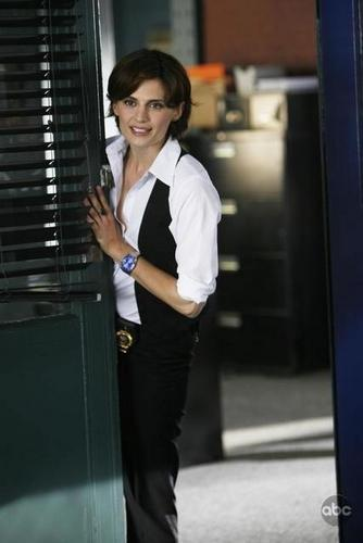 Castle wallpaper probably with a business suit and a revolving door called Promo Photos: Kate Beckett