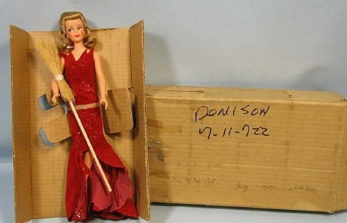 Bewitched wallpaper containing a packing box entitled Samantha 1965 Vintage Doll