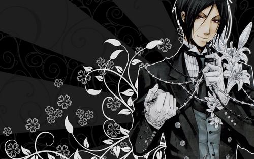 Kuroshitsuji wallpaper probably with a surcoat and a sign titled Sebastian's Wallpaper