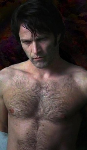 ट्रू ब्लड वॉलपेपर probably containing a hunk, a hot tub, and skin titled Shirtless Bill Compton (Stephen Moyer)