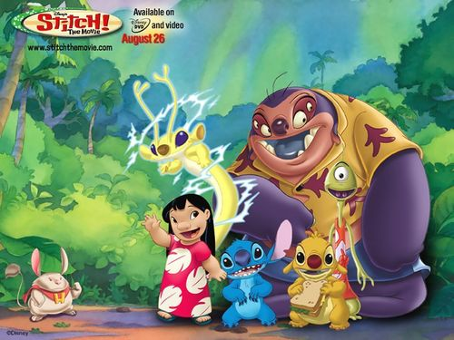 Lilo & Stitch Hintergrund with Anime titled Stitch