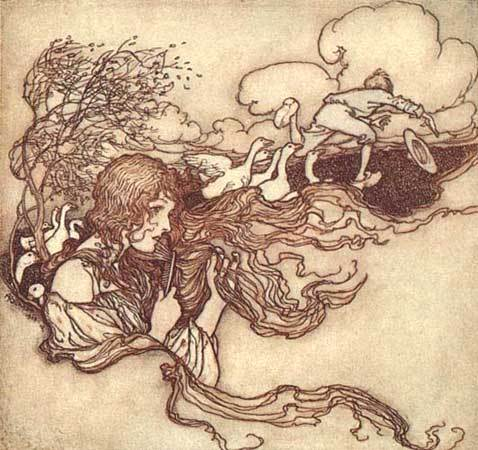 Grimm's Fairy Tales wallpaper entitled The Goose-Girl
