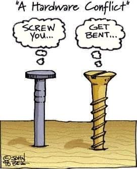 screw you get bent