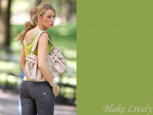Blake Lively wallpaper possibly containing a pantleg, long trousers, and bellbottom trousers titled Blake