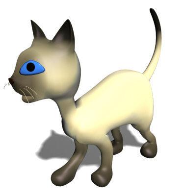 Cartoon Siamese Cat