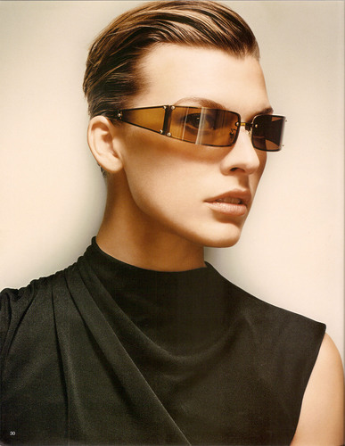 Milla Jovovich karatasi la kupamba ukuta containing sunglasses titled Celine Photoshoot