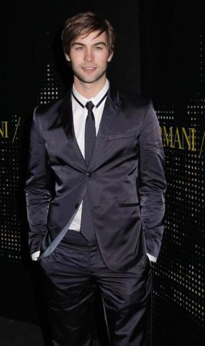 Chace Crawford-Hollywood Hunks Check Out Armani Opening